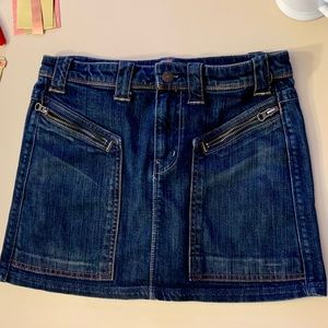 7 For All Mankind  Four Pockets Jean Mini Skirt